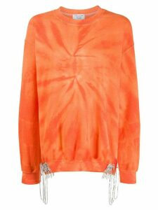 Collina Strada oversized tie-dye sweatshirt - ORANGE