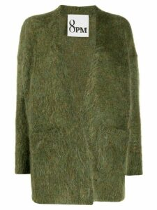 8pm fuzzy knit cardigan - Green