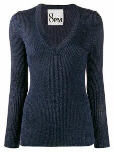 8pm ribbed knit metallic jumper - Blue