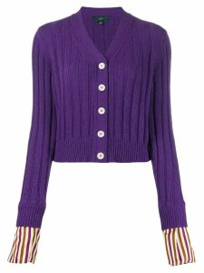 Jejia striped cuff cardigan - Purple