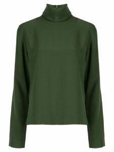 Bouguessa crepe turtleneck top - Green