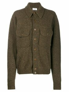 Lemaire oversized shirt jacket - Brown