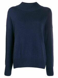 Allude funnel neck jumper - Blue