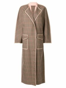 Bouguessa checked cape coat - Brown
