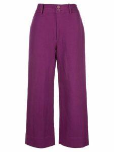 Apiece Apart high-waist tapered trousers - PURPLE