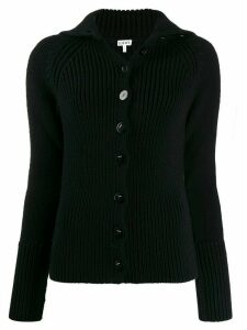 Loewe high-neck cardigan - Black