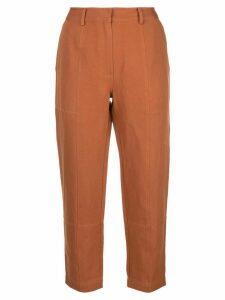 Apiece Apart high-waisted tapered trousers - ORANGE