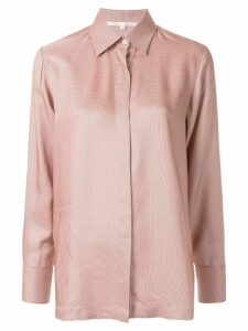 Bouguessa houndstooth print straight fit shirt - PINK