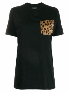 Simonetta Ravizza fur pocket t-shirt - Black