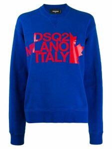 Dsquared2 logo-print sweatshirt - Blue