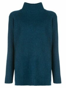 The Elder Statesman mock-neck cashmere jumper - Blue