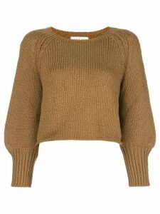 Apiece Apart cropped knit jumper - Brown