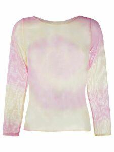 Collina Strada tie dye print T-shirt - PINK