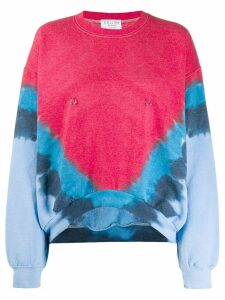 Collina Strada Bailout tie dye sweatshirt - Red