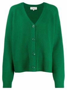 YMC ribbed knit cardigan - Green