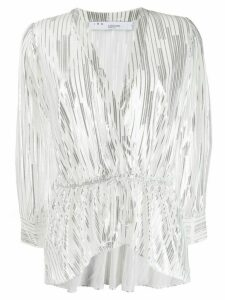 IRO metallic stripes blouse - White