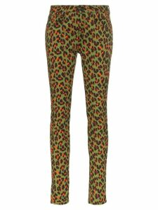 R13 x Alison Mosshart high-rise leopard-print skinny jeans - Green