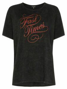 R13 Fast Times print T-shirt - Black