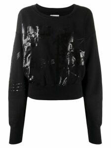 Faith Connexion printed cropped sweatshirt - Black