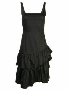 Cynthia Rowley eva polished ruffle dress - Black