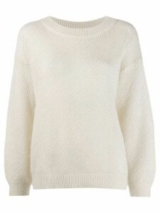 Brunello Cucinelli loose fit jumper - NEUTRALS
