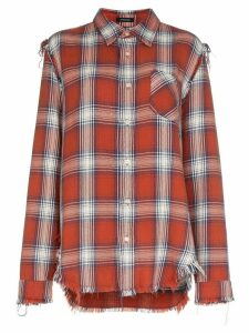 R13 Mosshart checked shirt - Red