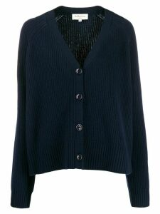 YMC ribbed knit cardigan - Blue
