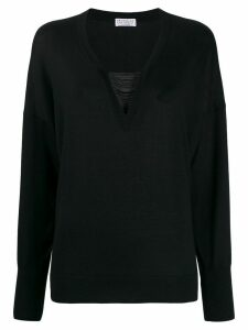 Brunello Cucinelli beaded detail jumper - Black