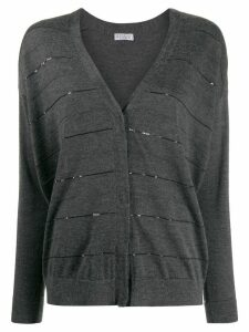Brunello Cucinelli sequin detail cardigan - Grey