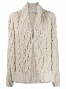 Brunello Cucinelli chunky knit cardigan - NEUTRALS