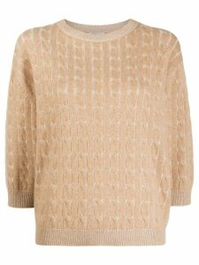 Brunello Cucinelli beaded detail jumper - NEUTRALS