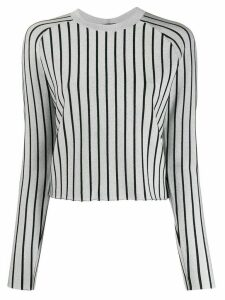 Proenza Schouler metallic striped knitted top - SILVER