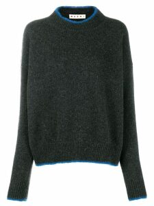 Marni contrast edge jumper - Grey