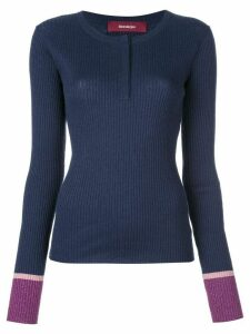 Sies Marjan Kate lurex Henley jumper - Blue