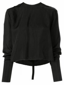 Yang Li long-sleeved distressed blouse - Black