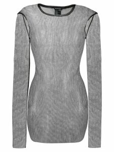 Ann Demeulemeester long sleeve sheer top - Black