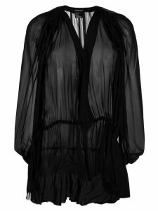 Ann Demeulemeester Mclottie gathered-waist top - Black