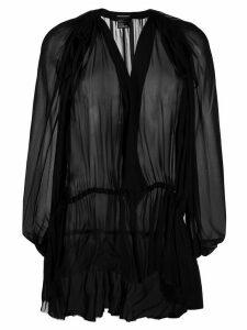 Ann Demeulemeester Mclottie gathered-waist top - Black