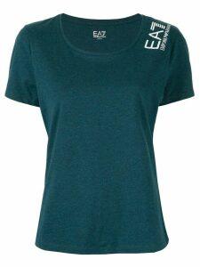 Ea7 Emporio Armani logo jersey T-shirt - Green
