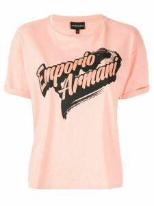 Emporio Armani Branded logo T-shirt - ORANGE