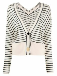 Forte Forte striped loose-fit cardigan - NEUTRALS