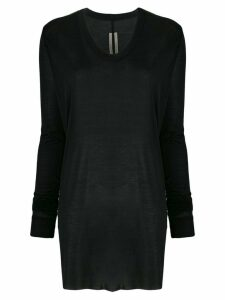 Rick Owens long-sleeved silk top - Black