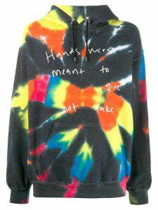 Collina Strada tie-dye hooded sweatshirt - Black