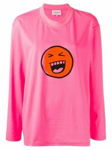 Natasha Zinko graphic print long-sleeve T-shirt - Pink