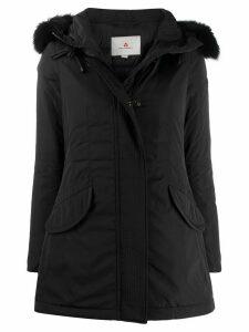 Peuterey fox-fur hooded coat - Black