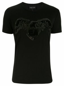 Emporio Armani Eagle logo embellished t-shirt - Black