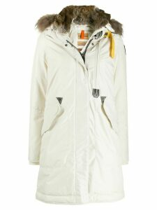 Parajumpers faux-fur hood down parka coat - NEUTRALS