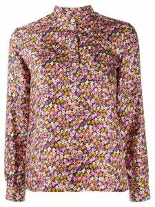 A.P.C. silk flower print shirt - PINK