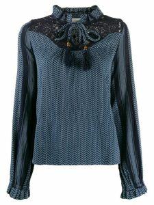 Cecilie Copenhagen Delphine tassel shirt - Blue