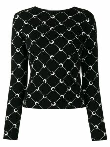 Marine Serre moon print slim-fit jumper - Black